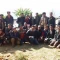 Group Photo With the Masons at Nuwakot NEpal
