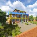 School at Dhading. The Color Scheme has been so chosen on account of student's growing intellect and optimism.